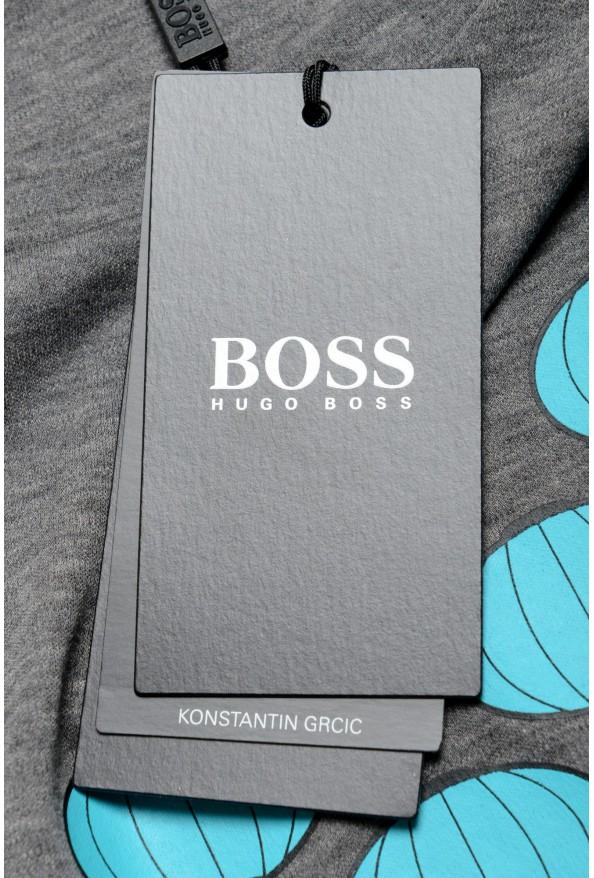 "Hugo Boss X Konstantin GRCIC Men's ""Tiburt 134"" Gray Crewneck T-Shirt: Picture 6"
