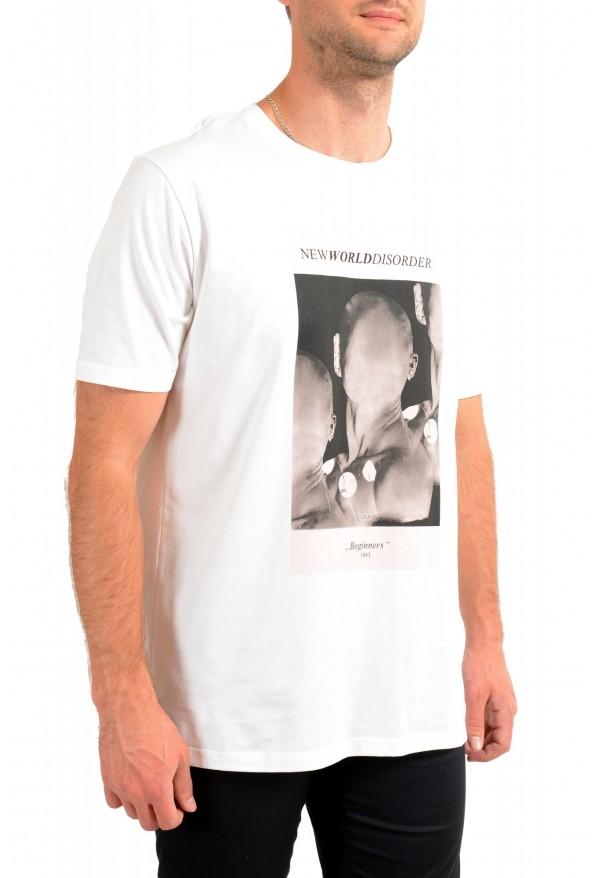 "Hugo Boss Men's ""Deginners"" White Graphic Print Crewneck T-Shirt: Picture 2"