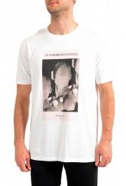 """Hugo Boss Men's """"Deginners"""" White Graphic Print Crewneck T-Shirt"""