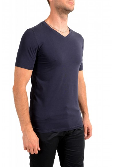 """Hugo Boss Men's """"Dandre"""" Navy Blue V-Neck Short Sleeve T-Shirt: Picture 2"""