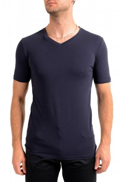 """Hugo Boss Men's """"Dandre"""" Navy Blue V-Neck Short Sleeve T-Shirt"""