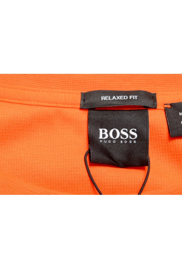 "Hugo Boss Men's ""Tames 06"" Orange Relaxed Fit Crewneck Short Sleeve T-Shirt: Picture 5"