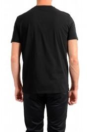 Just Cavalli Men's Black Embroidered Crewneck T-Shirt : Picture 3