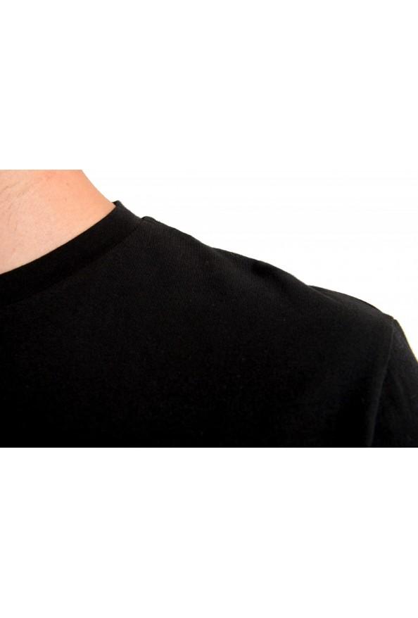Just Cavalli Men's Black Embroidered Crewneck T-Shirt : Picture 4
