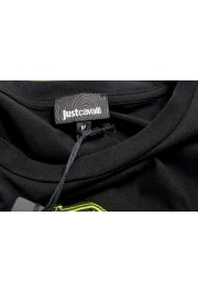 Just Cavalli Men's Black Embroidered Crewneck T-Shirt : Picture 5