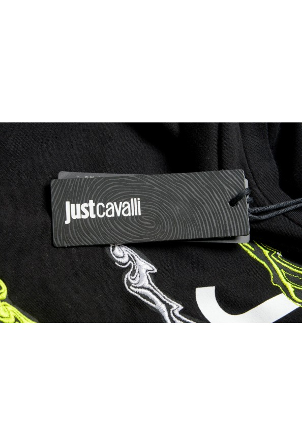Just Cavalli Men's Black Embroidered Crewneck T-Shirt : Picture 6