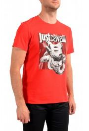 Just Cavalli Men's Red Graphic Crewneck T-Shirt: Picture 2