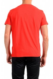 Just Cavalli Men's Red Graphic Crewneck T-Shirt: Picture 3