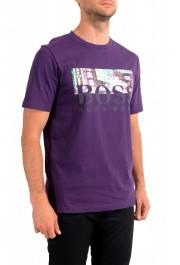 "Hugo Boss Men's ""Trek 4"" Purple Graphic Print Crewneck T-Shirt: Picture 2"