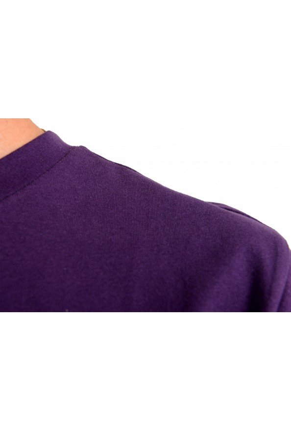"Hugo Boss Men's ""Trek 4"" Purple Graphic Print Crewneck T-Shirt: Picture 4"