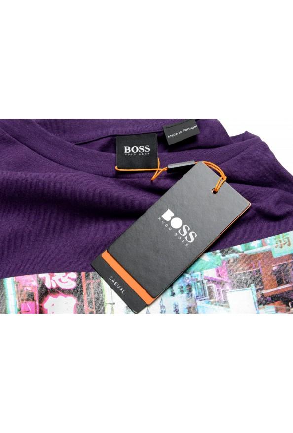 "Hugo Boss Men's ""Trek 4"" Purple Graphic Print Crewneck T-Shirt: Picture 7"