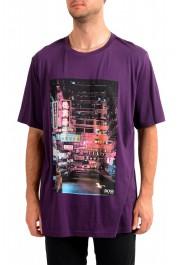 "Hugo Boss Men's ""Toll 1"" Purple Graphic Print Crewneck T-Shirt"
