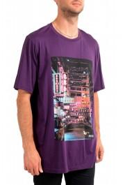 "Hugo Boss Men's ""Toll 1"" Purple Graphic Print Crewneck T-Shirt: Picture 2"
