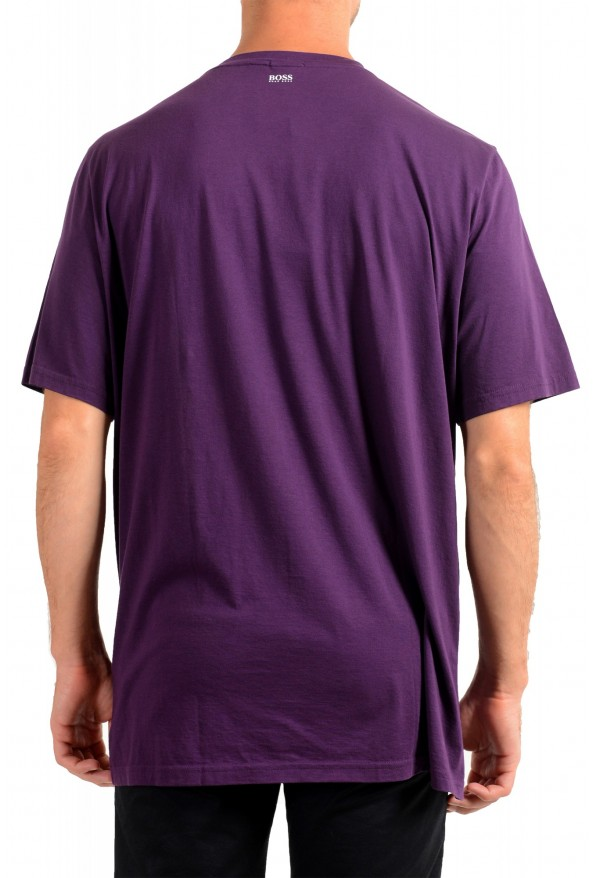"Hugo Boss Men's ""Toll 1"" Purple Graphic Print Crewneck T-Shirt: Picture 3"