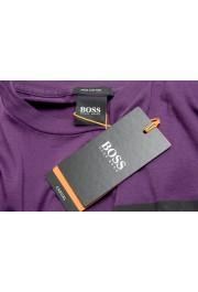 "Hugo Boss Men's ""Toll 1"" Purple Graphic Print Crewneck T-Shirt: Picture 7"