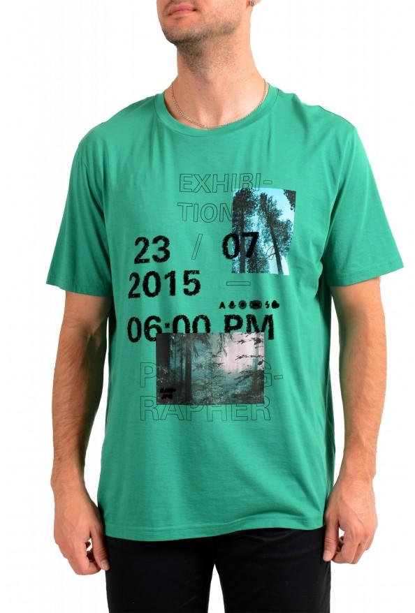 "Hugo Boss Men's ""Tomback"" Green Graphic Print Crewneck T-Shirt"