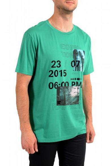 "Hugo Boss Men's ""Tomback"" Green Graphic Print Crewneck T-Shirt: Picture 2"