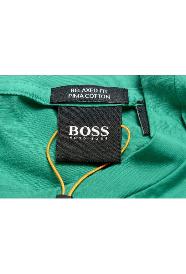 "Hugo Boss Men's ""Tomback"" Green Graphic Print Crewneck T-Shirt: Picture 5"