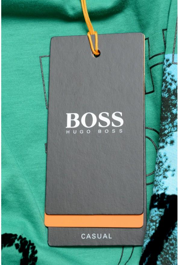 "Hugo Boss Men's ""Tomback"" Green Graphic Print Crewneck T-Shirt: Picture 6"
