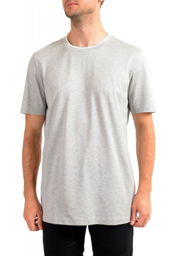 "Hugo Boss Men's ""Tessler 128"" Slim Fit Gray Crewneck T-Shirt"