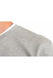 "Hugo Boss Men's ""Tessler 128"" Slim Fit Gray Crewneck T-Shirt: Picture 4"