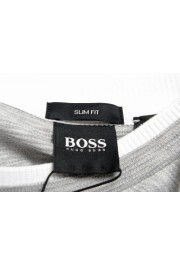 "Hugo Boss Men's ""Tessler 128"" Slim Fit Gray Crewneck T-Shirt: Picture 5"