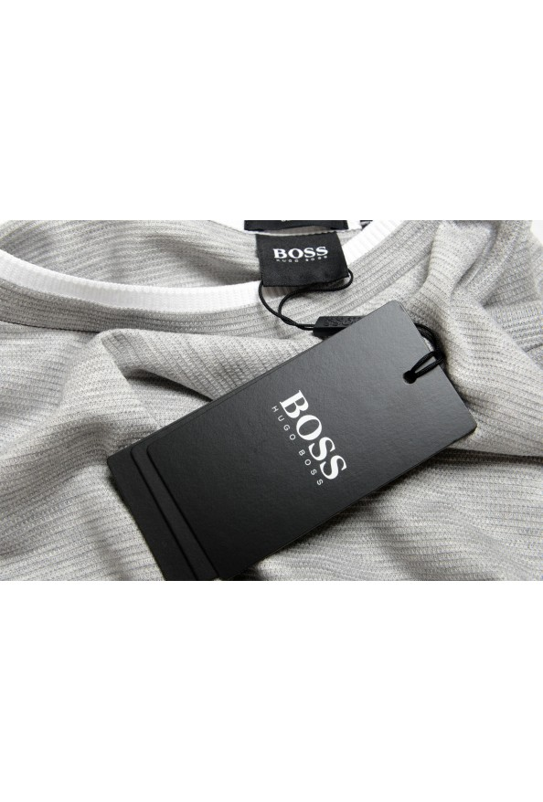 "Hugo Boss Men's ""Tessler 128"" Slim Fit Gray Crewneck T-Shirt: Picture 7"