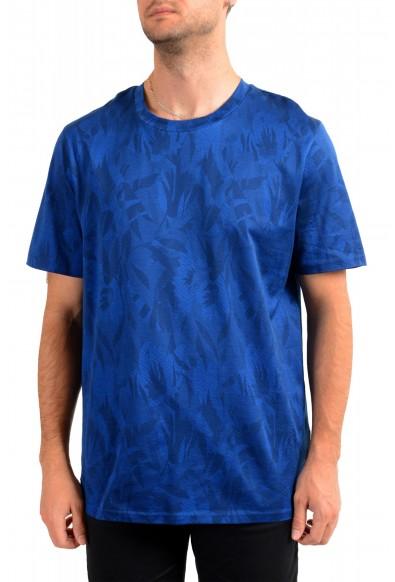"Hugo Boss Men's ""Tessler121"" Blue Floral Print Crewneck T-Shirt"