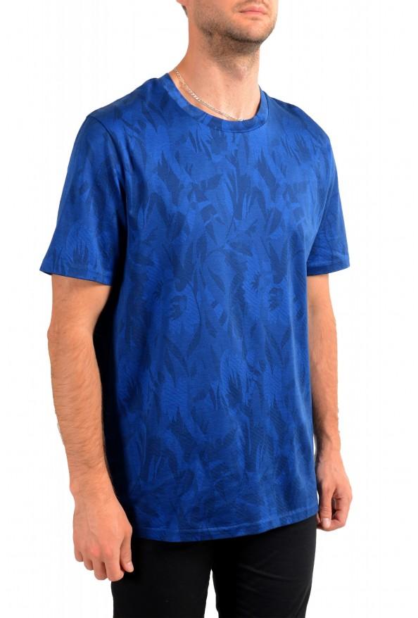 "Hugo Boss Men's ""Tessler121"" Blue Floral Print Crewneck T-Shirt: Picture 2"