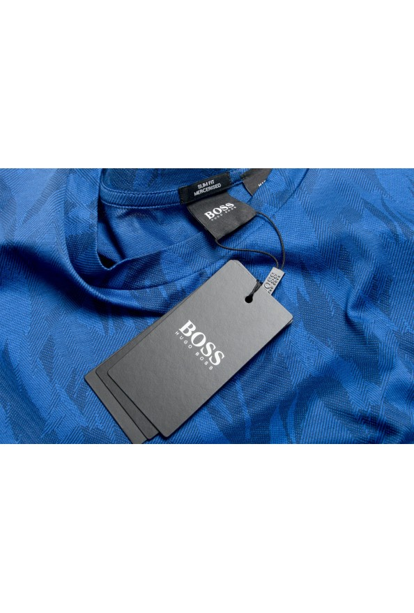 "Hugo Boss Men's ""Tessler121"" Blue Floral Print Crewneck T-Shirt: Picture 7"