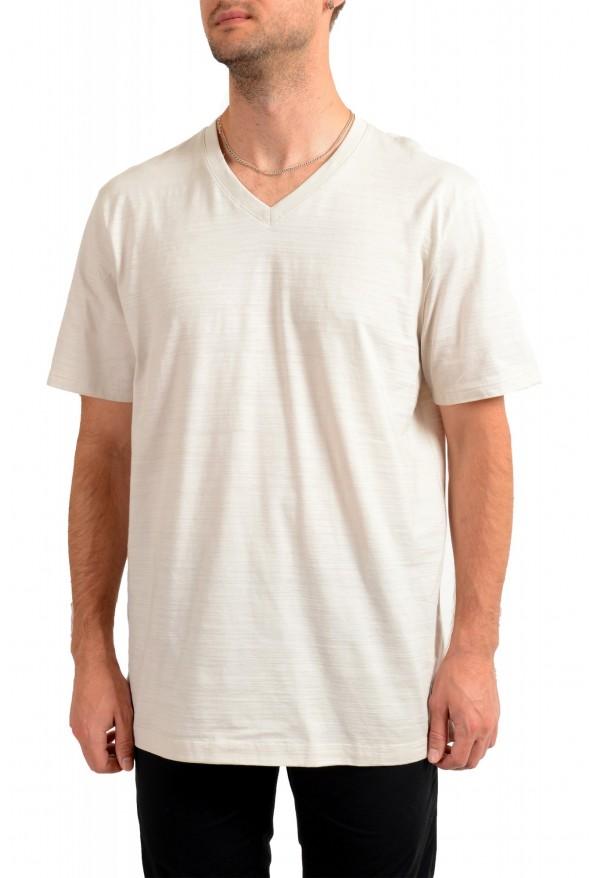 """Hugo Boss Men's """"Tilson 100"""" Regular Fit Beige V-Neck T-Shirt"""