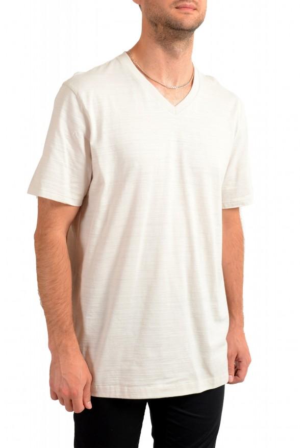 """Hugo Boss Men's """"Tilson 100"""" Regular Fit Beige V-Neck T-Shirt: Picture 2"""