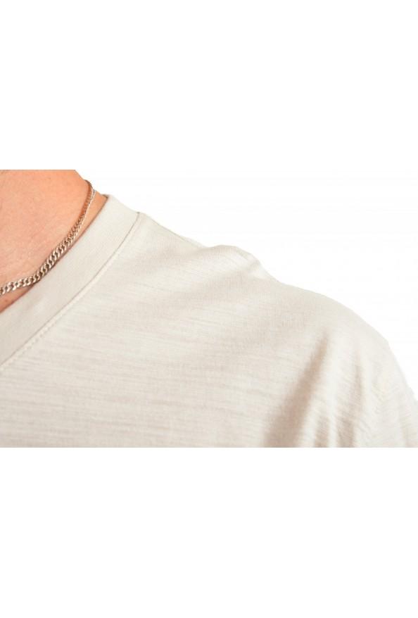 """Hugo Boss Men's """"Tilson 100"""" Regular Fit Beige V-Neck T-Shirt: Picture 4"""