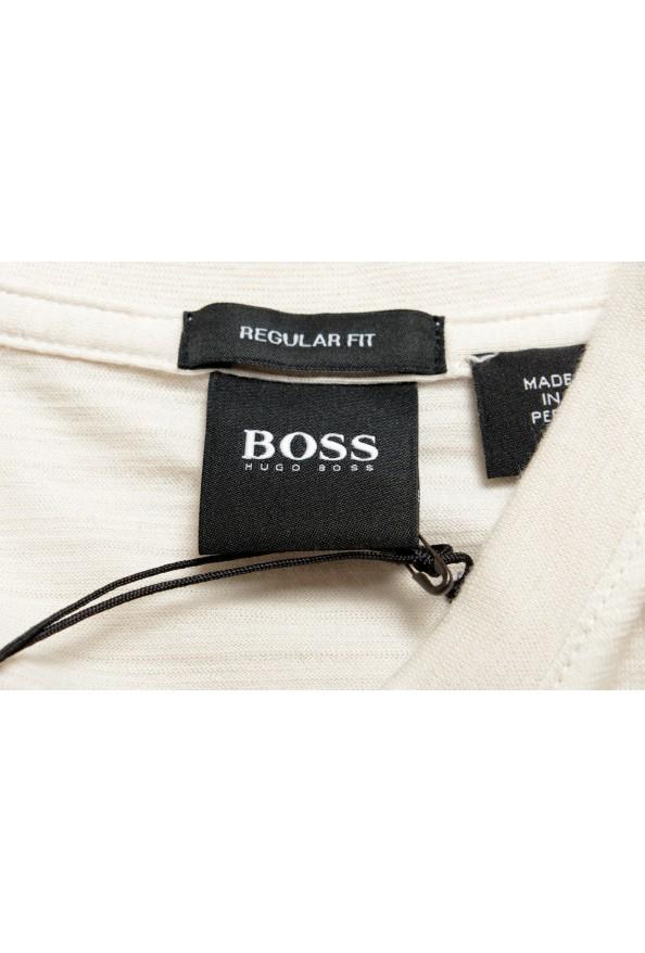 """Hugo Boss Men's """"Tilson 100"""" Regular Fit Beige V-Neck T-Shirt: Picture 5"""