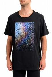 """Hugo Boss Men's """"Teyne"""" Black Graphic Print T-Shirt"""
