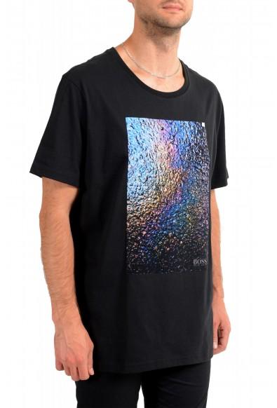 "Hugo Boss Men's ""Teyne"" Black Graphic Print Casual T-Shirt: Picture 2"