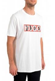 "Hugo Boss Men's ""Dicagolino_LP1"" White Logo Print Crewneck T-Shirt: Picture 2"