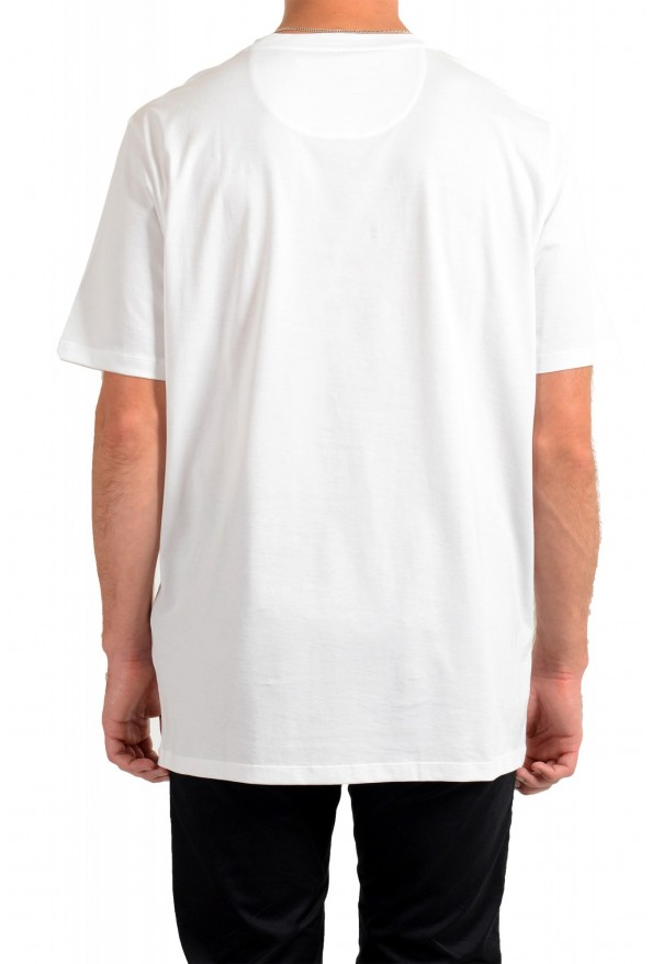 "Hugo Boss Men's ""Dicagolino_LP1"" White Logo Print Crewneck T-Shirt: Picture 3"