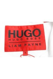 "Hugo Boss Men's ""Dicagolino_LP1"" White Logo Print Crewneck T-Shirt: Picture 5"