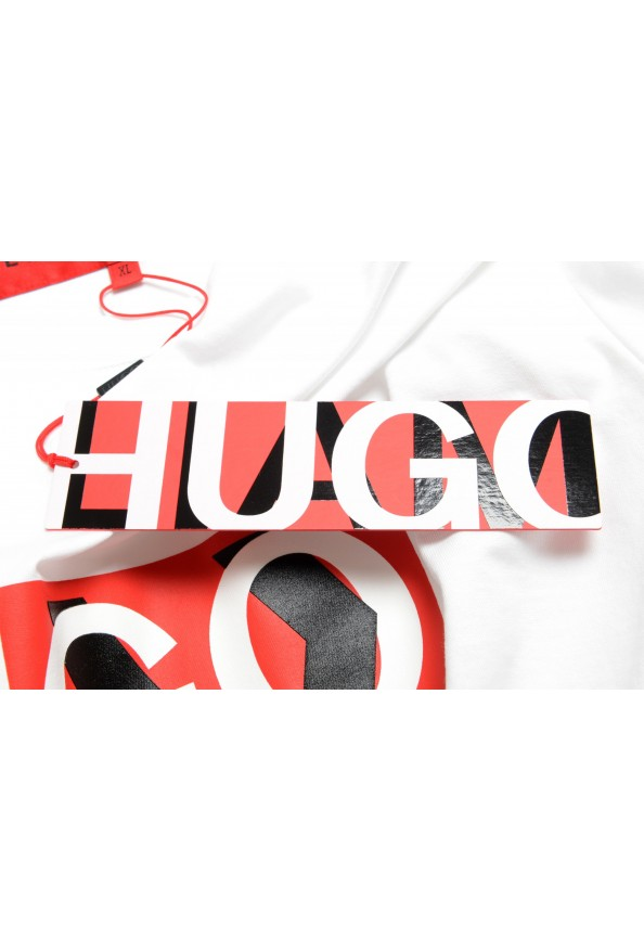 "Hugo Boss Men's ""Dicagolino_LP1"" White Logo Print Crewneck T-Shirt: Picture 6"