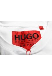 "Hugo Boss Men's ""Dicagolino_LP1"" White Logo Print Crewneck T-Shirt: Picture 7"