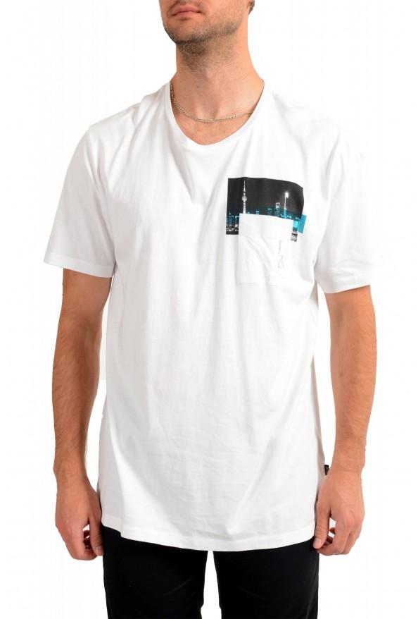 """Hugo Boss Men's """"Tiburt145"""" White Graphic Print Casual T-Shirt"""