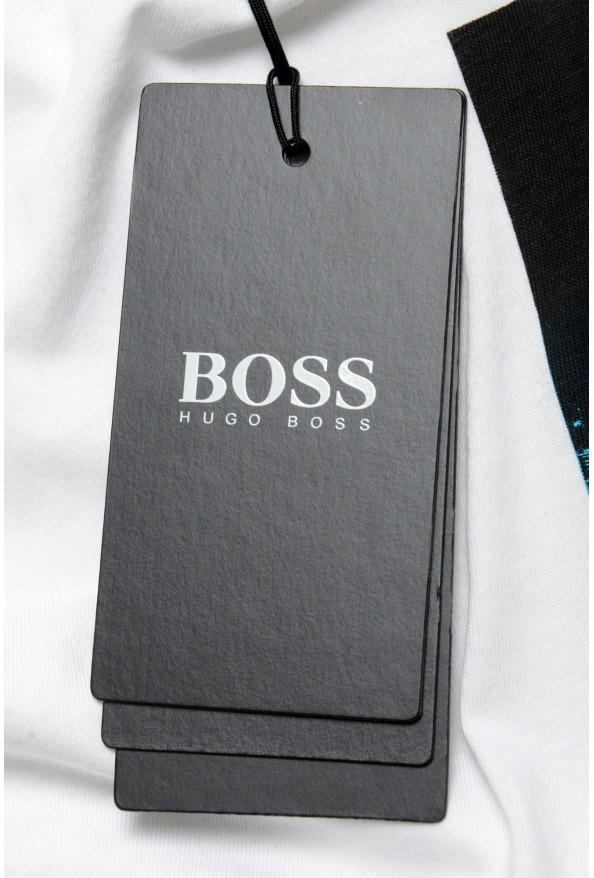 """Hugo Boss Men's """"Tiburt145"""" White Graphic Print Casual T-Shirt : Picture 6"""