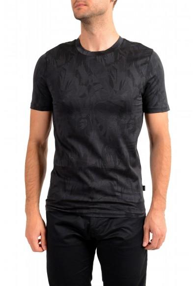 "Hugo Boss Men's ""Tessler121"" Black Floral Print Crewneck T-Shirt"