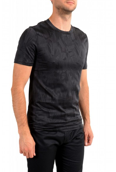"Hugo Boss Men's ""Tessler121"" Black Floral Print Crewneck T-Shirt: Picture 2"