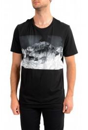 "Hugo Boss Men's ""Tessler 127"" Black Graphic Print Slim Fit T-Shirt"
