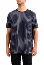 "Hugo Boss Men's ""Drieste"" Blue Striped Crewneck T-Shirt"