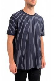 "Hugo Boss Men's ""Drieste"" Blue Striped Crewneck T-Shirt: Picture 2"
