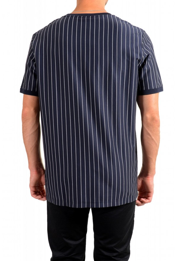 "Hugo Boss Men's ""Drieste"" Blue Striped Crewneck T-Shirt: Picture 3"