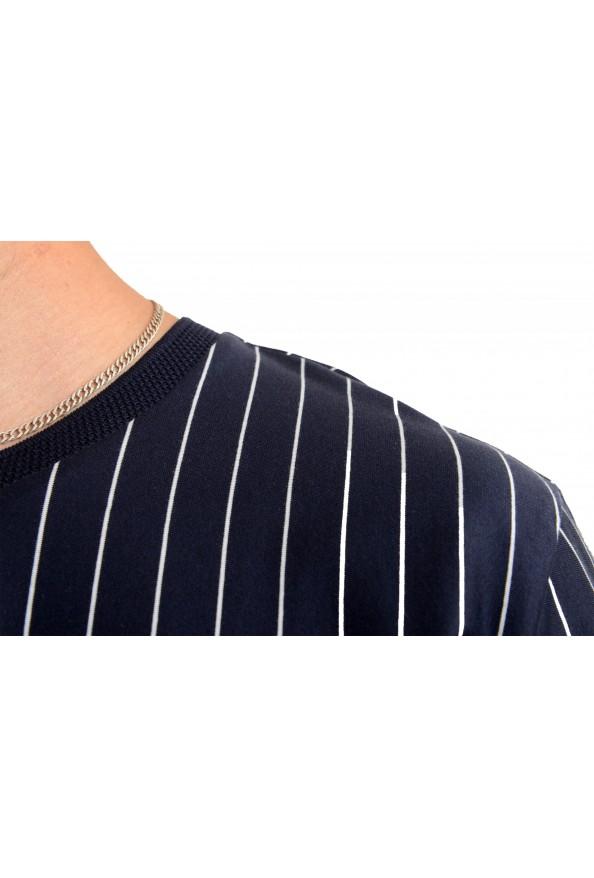 "Hugo Boss Men's ""Drieste"" Blue Striped Crewneck T-Shirt: Picture 4"
